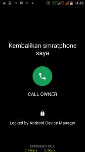 Tampilan smartphone terlock