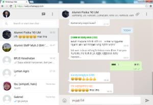 Halaman WhatsApp Web